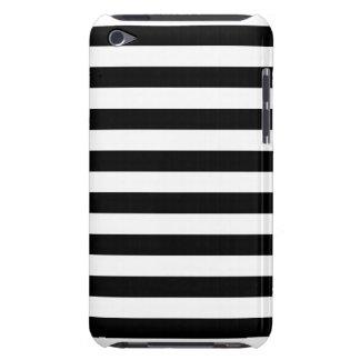 Zwarte Horizontale Strepen iPod Touch Hoesje