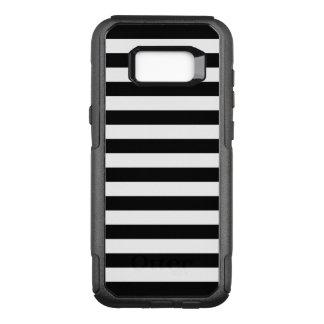 Zwarte Horizontale Strepen OtterBox Commuter Samsung Galaxy S8+ Hoesje