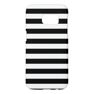 Zwarte Horizontale Strepen Samsung Galaxy S7 Hoesje