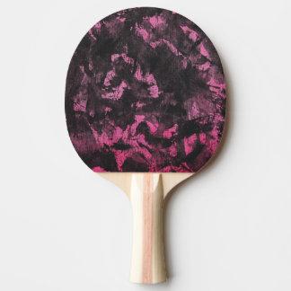 Zwarte Inkt op Roze Achtergrond Tafeltennis Bat