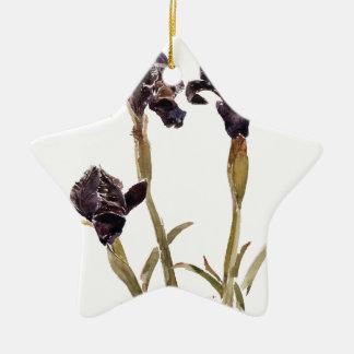 zwarte iris van Jordanië Keramisch Ster Ornament
