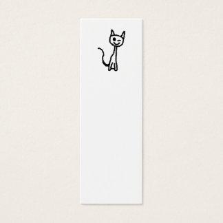 Zwarte Kat, het Knipogen Mini Visitekaartjes