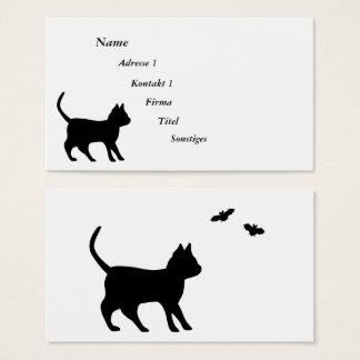 Zwarte Kat met Knuppel Visitekaartjes