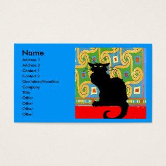 Zwarte Kat op Samenvatting Visitekaartjes