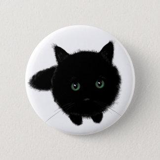 Zwarte Kat Ronde Button 5,7 Cm