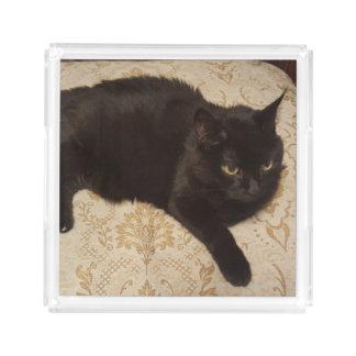 Zwarte Kat Roxie Acryl Dienblad