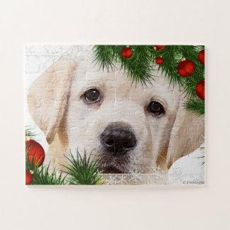 Zwarte Kerstmis van Labrador Puzzel