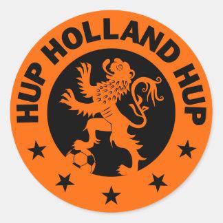Zwarte kleur Als achtergrond Hup Holland - Ronde Sticker