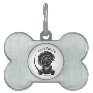 Zwarte Labradoodle IAAM Keychain Huisdieren Naamplaatje