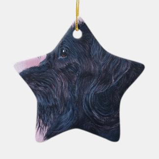 Zwarte Labradoodle Keramisch Ster Ornament