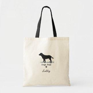 Zwarte Labrador Budget Draagtas