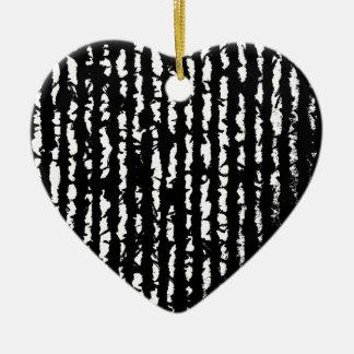 zwarte lijnen keramisch hart ornament