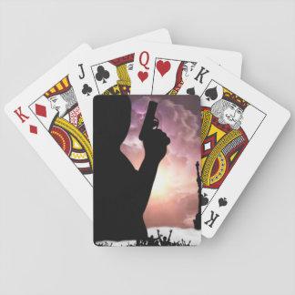 Zwarte machtsspeelkaarten speelkaarten