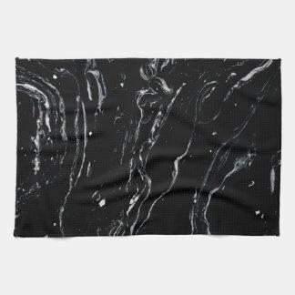 Zwarte Marmeren Ruimte Theedoek