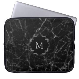 Zwarte Marmeren Steen MS001 Computer Sleeve