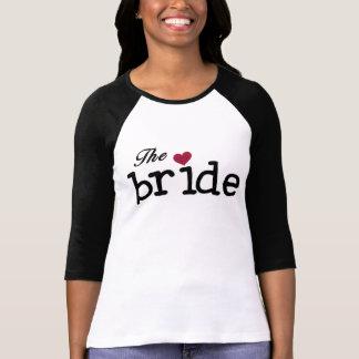 Zwarte met de Rode Bruid van het Hart T Shirt