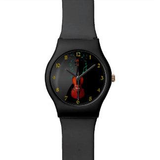 Zwarte met het Horloge van de Muziek van de Viool