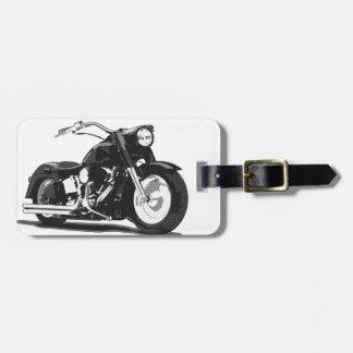 Zwarte motorfiets Harley Bagagelabel
