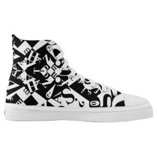 zwarte op wit op zwarte hightops high top schoenen