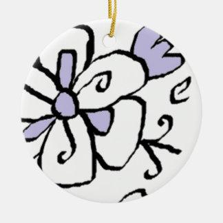 zwarte paars rond keramisch ornament