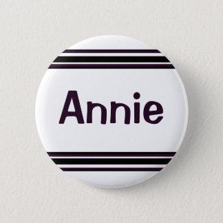 zwarte paarse lijnen ronde button 5,7 cm