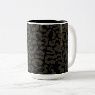 Zwarte Panter | Erik Killmonger Panther Pattern Tweekleurige Koffiemok