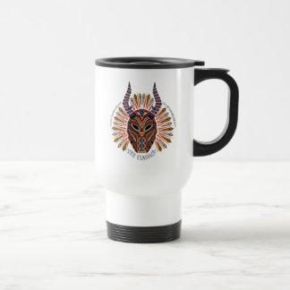 Zwarte Panter | Erik Killmonger Tribal Mask Icon Reisbeker