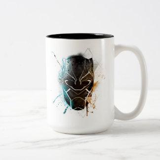 Zwarte Panter | het Dubbele Art. van de Straat van Tweekleurige Koffiemok