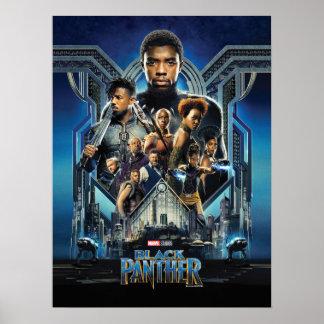 Zwarte Panter   Karakters over Wakanda Poster