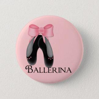 Zwarte Pantoffels 2 van de Ballerina Knoop Ronde Button 5,7 Cm