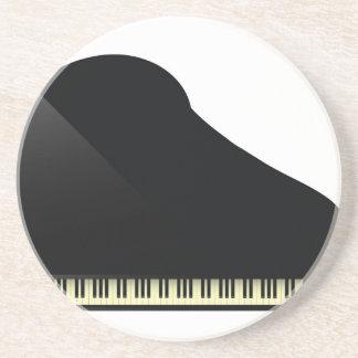 zwarte piano zandsteen onderzetter