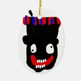 Zwarte Piet Keramisch Ovaal Ornament