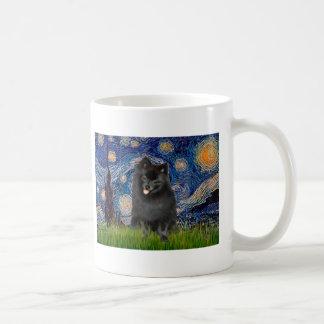 (Zwarte) Pomeranian - Sterrige Nacht Koffiemok