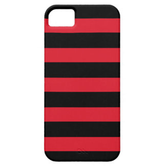 Zwarte & Rode Dikke Horizontale iPhone 5 van de Barely There iPhone 5 Hoesje