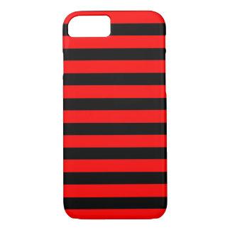 Zwarte Rode horizontale iPhone 7 van Strepen iPhone 7 Hoesje
