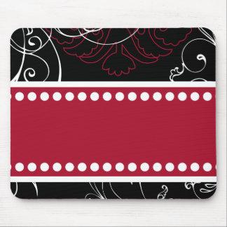 Zwarte & Rode Moderne Klantgerichte Mousepad Muismat