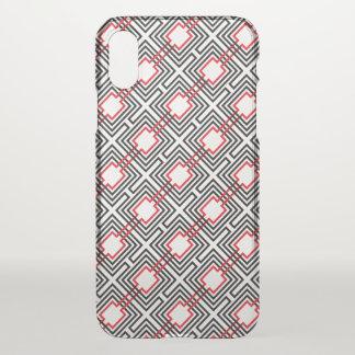 Zwarte Rode & Witte Geometrisch iPhone X Hoesje