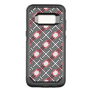 Zwarte Rode & Witte Geometrisch OtterBox Commuter Samsung Galaxy S8 Hoesje