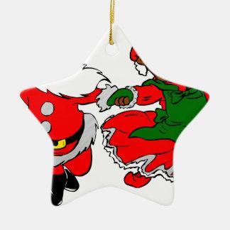 zwarte santa Mevr. Claus Keramisch Ster Ornament