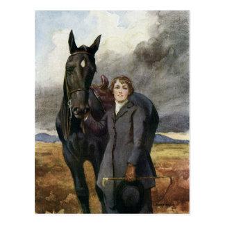 Zwarte Schoonheid - zij koos me voor Haar Paard Briefkaart
