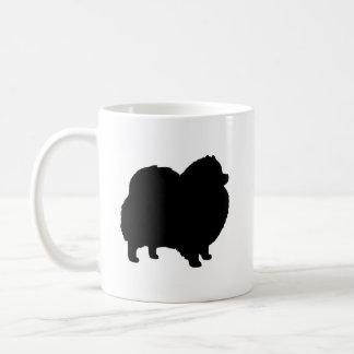 Zwarte Silhouetten Pomeranian Koffiemok