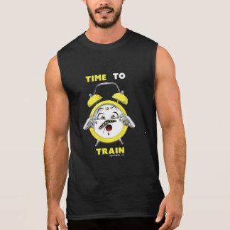 Zwarte Sleeveless Tijd om T-shirt op te leiden