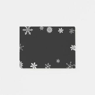 Zwarte Sneeuwvlok Post-it® Notes