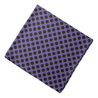 Zwarte Stippen op Paarse Ultraviolet Bandana