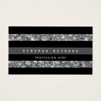 zwarte strepen & diamanten, pro vrouwelijke visitekaartjes