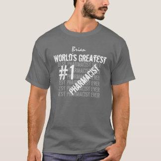 Zwarte van de APOTHEKER van de wereld de Grootste T Shirt
