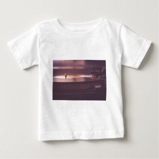 Zwarte van het Materiaal van het Verslag van de Baby T Shirts