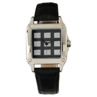 Zwarte vintage horlogeBloemen Polshorloges
