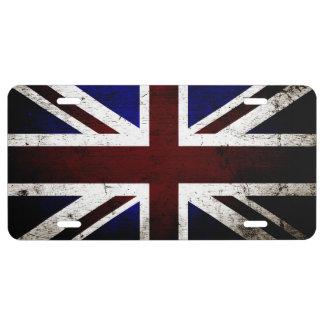 Zwarte Vlag 1 van Grunge Engeland Nummerbord