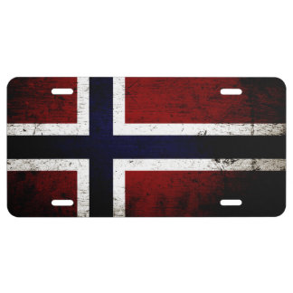 Zwarte Vlag 1 van Grunge Noorwegen Nummerplaat